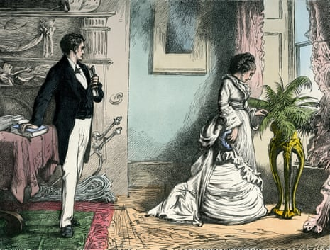 The Secretary and Miss Wilfer from Our Mutual Friend by Charles Dickens