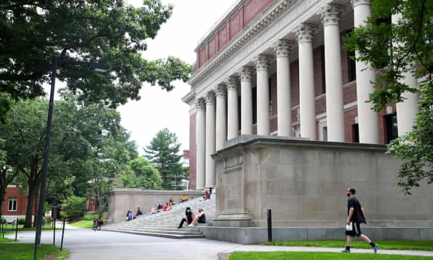 The campus of Harvard University on 8 July 2020 in Cambridge, Massachusetts.