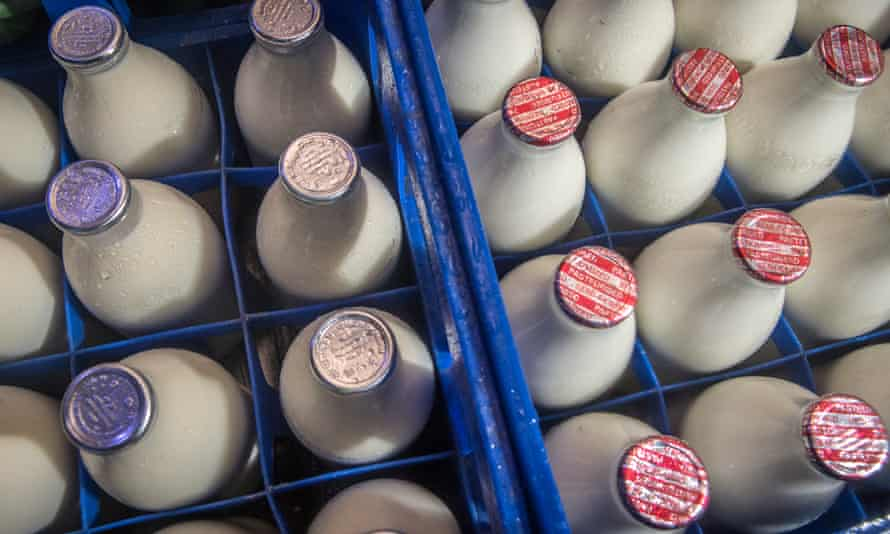 Dartmouth Dairy during his deliveries in Churchstow, Devon.