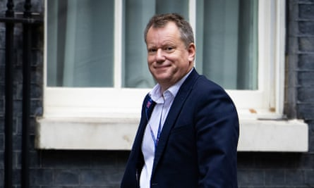 David Frost, Britain's chief negotiator, arrives in Downing Street