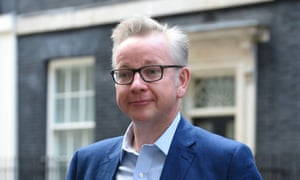 Michael Gove leaving 10 Downing Street on after being appointed environment secretary.