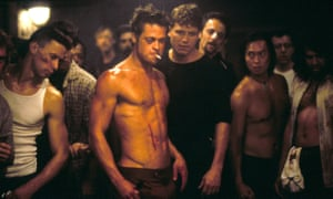 Brad Pitt as Tyler Durden in David Fincher's 1999 film of Fight Club.