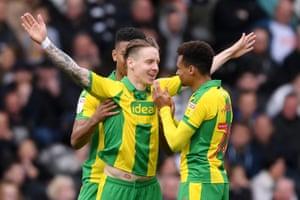 Stefan Johansen of West Bromwich Albion celebrates