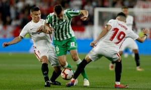 The last meeting between Betis and Sevilla at the Ramón Sánchez Pizjuán in April 2019