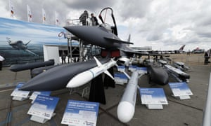 A BAE Systems Eurofighter Typhoon at the Farnborough airshow.
