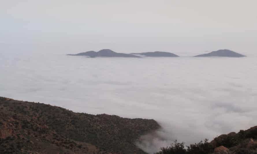 Fog in Morocco's Sidi Ifni region