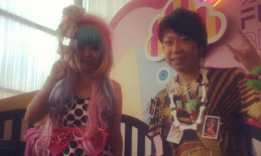 Broken Doll, known for their Harajuku-style fashion, playing at a bar at Goma at South Bank.