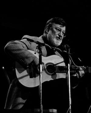 John D Loudermilk performing at Wembley Arena, London, 1983.