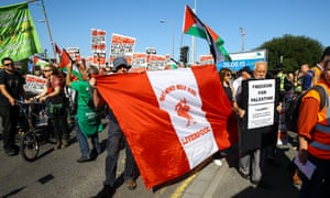 Pro-Palestinian protesters in Cardiff