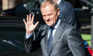 The European Council's president, Donald Tusk, said 'trans-Atlantic relations are under immense pressure due to the policies of President Trump.'