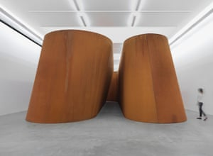 Richard Serra's work NJ-2 at Gagosian Gallery in London.
