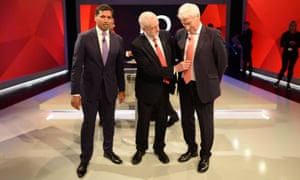 Faisal Islam, Jeremy Corbyn and Jeremy Paxman