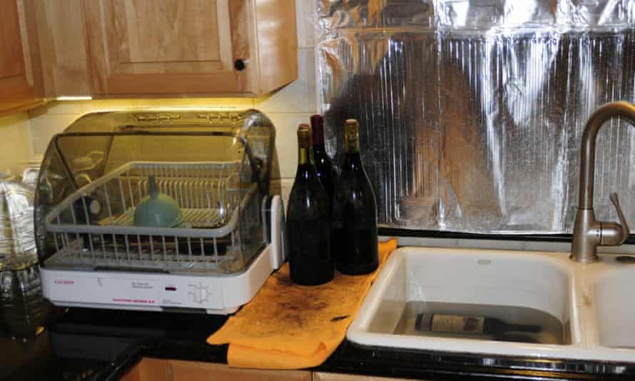Caught red-handed: bottles being prepared att Kurniawan's California home