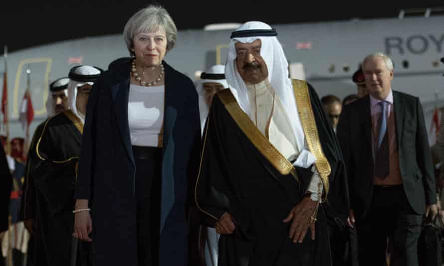 The prime minister of Bahrain, Prince Khalifa bin Salman bin Hamad Al Khalifa, welcomed his British counterpart Theresa May to the country on Tuesday.