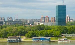 View from Kalemegdan park towards New Belgrade.