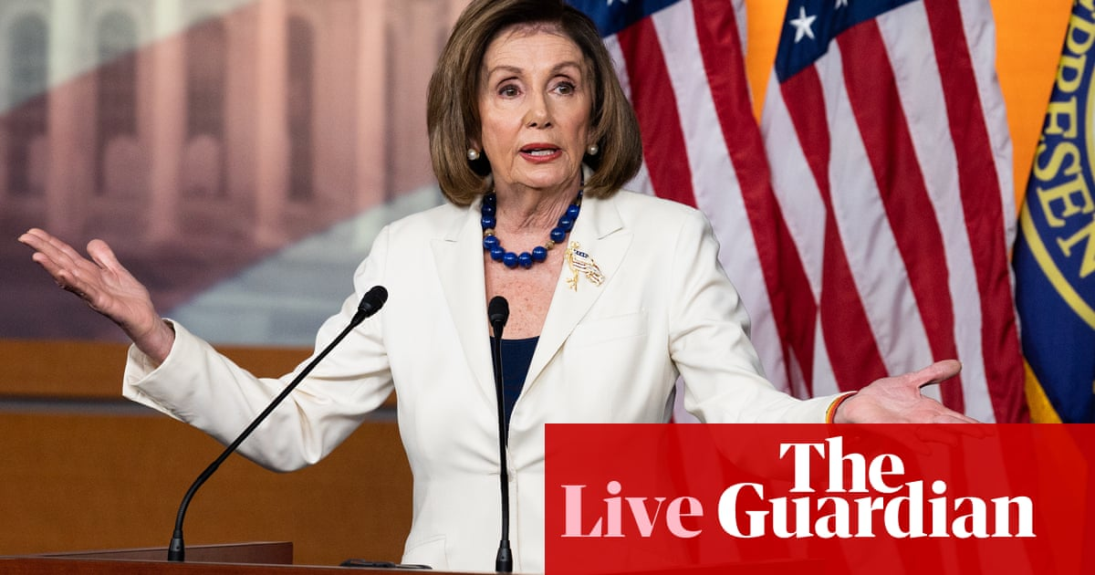 3633 - Pelosi claims Trump impeachment inquiry 'isn't about politics' – live | US news