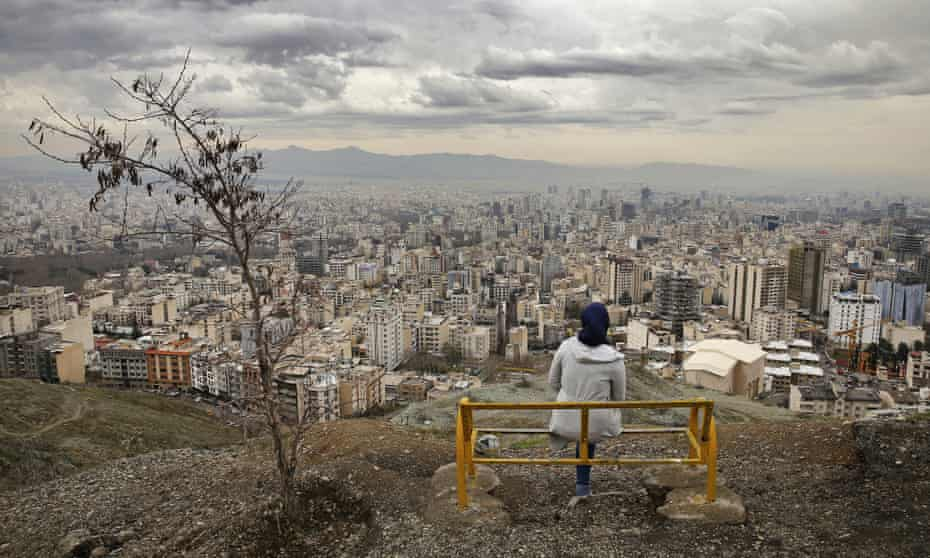 The view over Tehran from the Tochal mountains to the north.