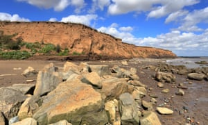 Barmston cliffs on the Holderness Coast, East Yorkshire,