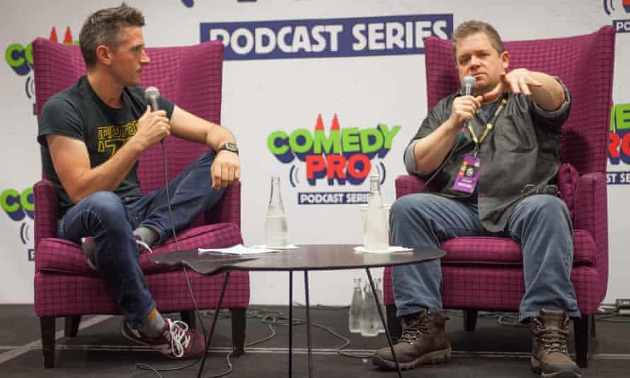 Goldsmith interviewing Patton Oswalt.