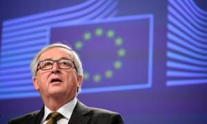 Jean-Claude Juncker speaks in Brussels