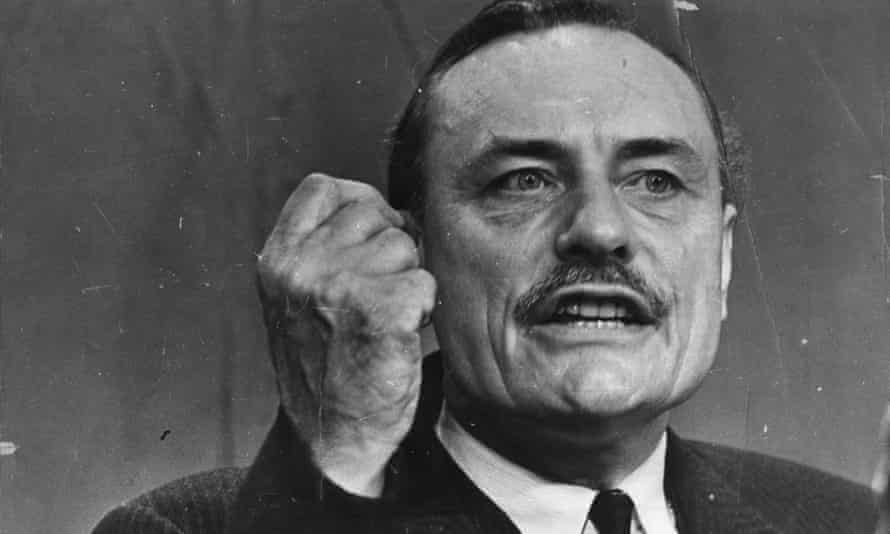 Enoch Powell speaking at the 1968 Conservative Party Conference In Blackpool.