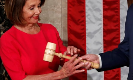 Nancy Pelosi receives the gavel during the start of the 116th Congress on Capitol Hill in Washington.
