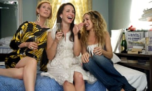 Unmasked … Cynthia Nixon, Kristin Davis and Sarah Jessica Parker in the 2008 Sex and the City movie.