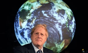 Boris Johnson speaks at the launch of the UN's climate change conference, COP26, in London.