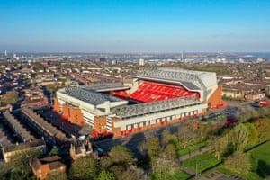 A football ground, earlier.