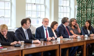 Labour shadow cabinet meeting in January 2016