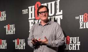 Quentin Tarantino at the Australian premiere of The Hateful Eight on 13 January in Sydney.