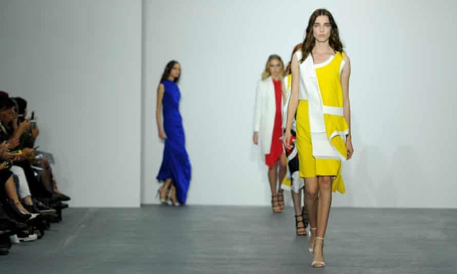 Models in the London fashion week show by Jean-Pierre Braganza