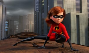 Elastigirl, featuring the voice of Holly Hunter, in Incredibles 2.