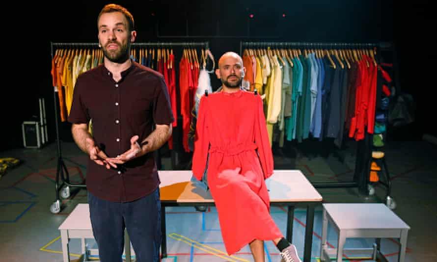 George Mann and Nir Paldi in Theatre Ad Infinitum's latest show, No Kids, at Pleasance at the Edinburgh fringe festival 2018.