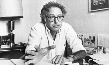 Bernie Sanders in 1981, six months after scoring a surprise victory to become mayor of Burlington.