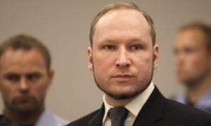 Anders Breivik pictured at his 2012 trial.