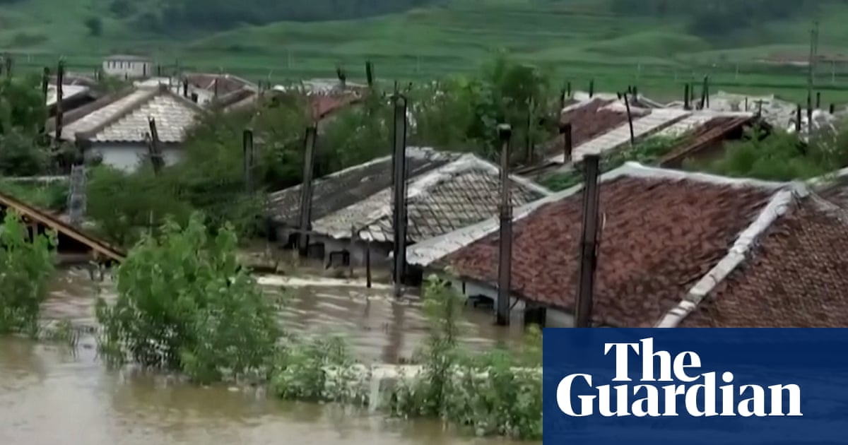 Thousands evacuate as North Korea floods damage homes and crops – video