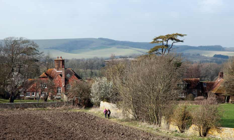 Country houses near Firle Place, East Sussex