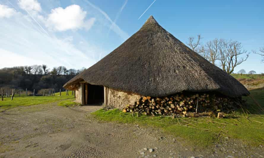 A replica of an iron age roundhouse at Castell Henllys in Wales