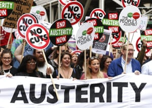 Between 70,000 and 150,000 were estimated to have marched in central London, with demonstrations in Glasgow, Liverpool and Bristol at last year's march