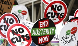 Protest against austerity