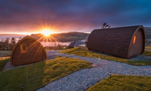 Sunset from the Cowshed Boutique Bunkhouse, Uig, Isle of Skye