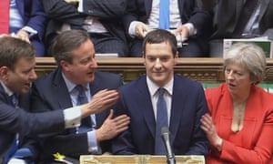George Osborne after delivering his budget in March 2016.