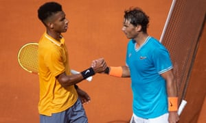 Rafael Nadal said his opponent Felix Auger-Aliassime will become a great player