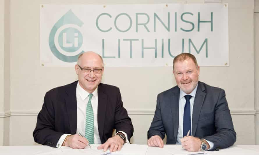 Cornish Lithium chief Jeremy Wrathall (left) with the president of Strongbow Exploration, Richard Williams.