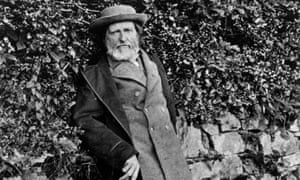 John Ruskin on one of his daily walks near Coniston in the Lake District, circa 1885.