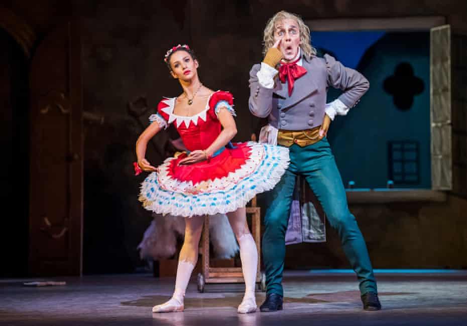 Francesca Hayward (Swanilda) and Gary Avis (Coppélius) in Coppelia.