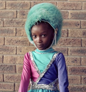 Keisha Ncube is 9 years old, and is in her third year of being in the drum majorettes team.