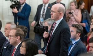 Jeff Mason, the White House correspondent for Reuters, remained calm when an exchange between him and Donald Trump turned nasty.