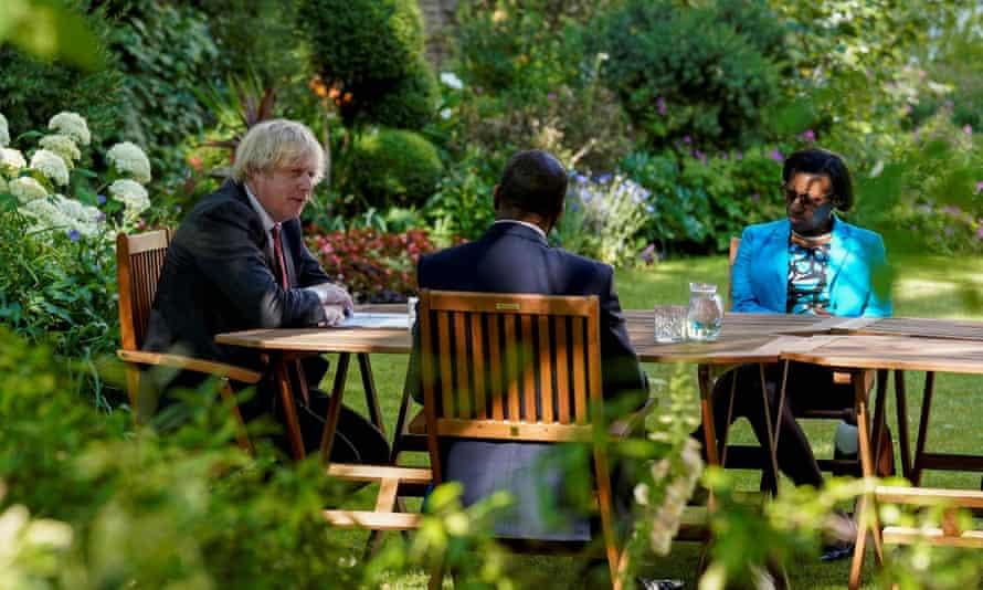 Boris Johnson meets members of the Windrush working group